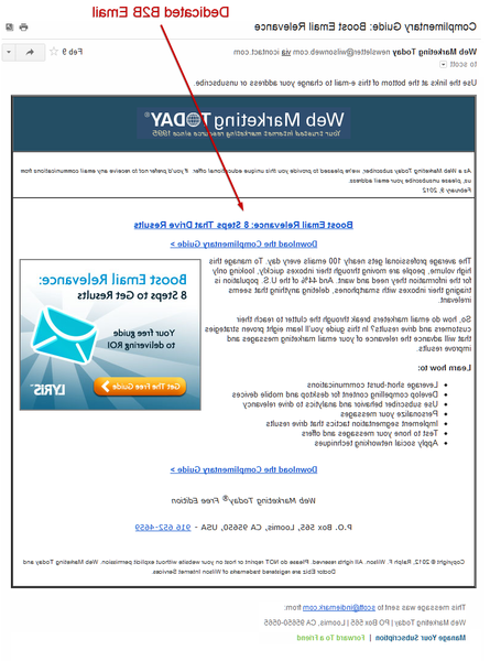 marketing email template examples